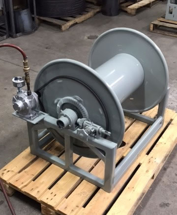 Heavy Duty Steel Hose Reel with Cast Aluminum Fluid Path
